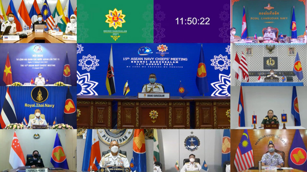 ROYAL BRUNEI NAVY (RBN) HOSTED THE 15TH ASEAN NAVY CHIEFS' MEETING VIRTUALLY